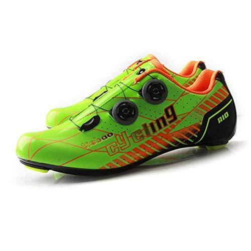 FACAI Leichte Rennradschuhe Carbon-Fahrradschuhe Ultraleichte Fahrradschuhe Professioneller Rennradschuh,Orange-47