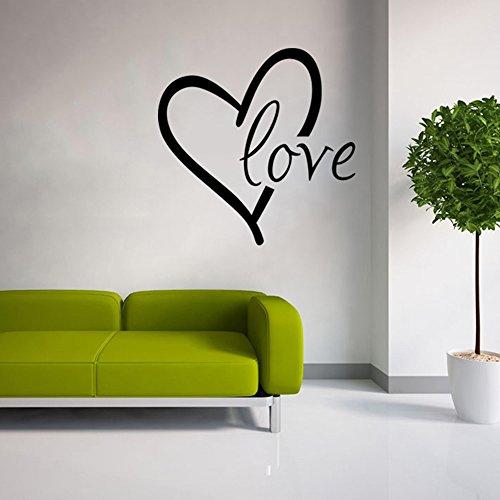 Stonges Love etiqueta de la pared de vinilo corazón Wall Art Decal pared diciendo cotizaciones para el día de San Valentín decoración del hogar