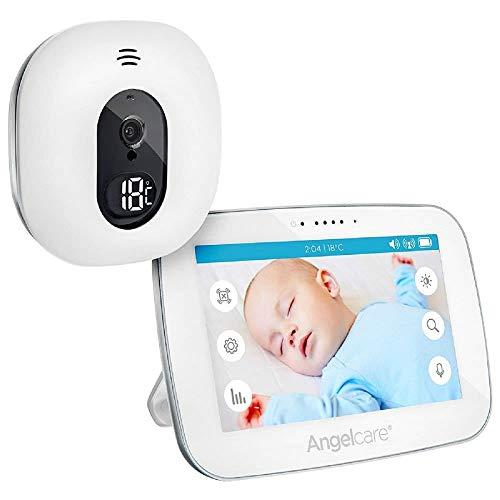 Angelcare A0510-DE0-A1011 Babyphone avec surveillance vidéo AC510-D écran 5  Blanc