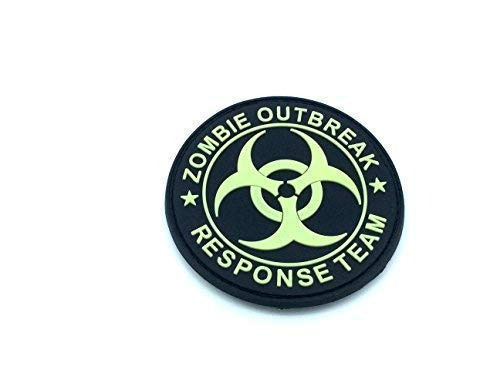 Zombie Outbreak Response Team Glow In The Dark Airsoft Paintball Morale PVC Patch