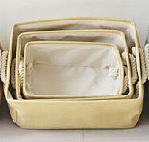 humeng Aufbewahrungsbox Ordentliche Leinen Kurze Design Von Schmutz Falten Wasserdicht Wäschekorb Dreiteilige Unterwäsche Spielzeug Ablagekorb Einkaufskorb@Gelb