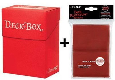 Ultra Pro Deck Box + 100 Protector Sleeves - Rot - Red - Magic: The Gathering - Standard