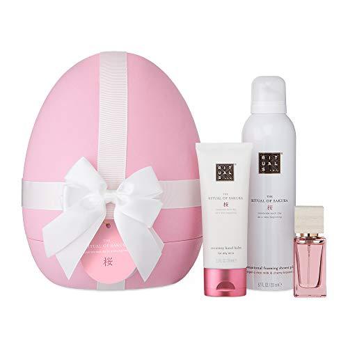 The Ritual of Sakura Rituals Ostereier Limited Edition - Duschschaum 200 ml, Handbalsam 70 ml, Eau de Parfum 15 ml + Kostenloses Sakura-Shampoo 70 ml