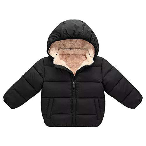 Logobeing Abrigo Niño Niña Abrigo de Invierno con Capucha Capa Chaqueta Ropa de Abrigo Abrigada Gruesa Ropa Bebe Infantil