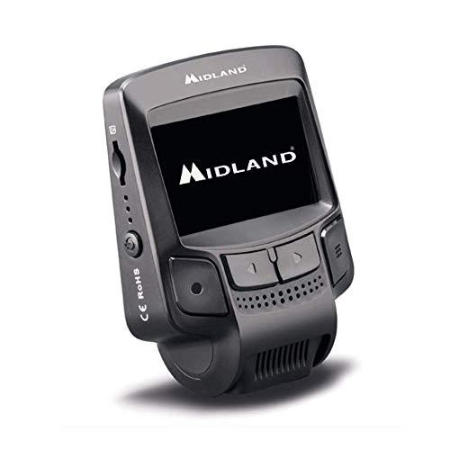 Midland Street Guardian Flat Dash Cam Telecamera, Video Camera per Auto Full Hd, Wi-Fi, Rilevatore di Movimento e Funzione di Parcheggio, Nero