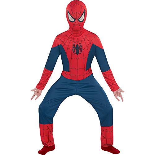 Costumes USA Classic Spider-Man Halloween Costume for Boys, Medium, Includes Mask