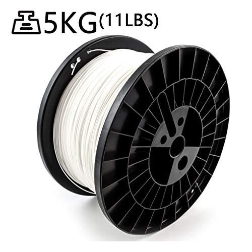 Hello PLA Filament de 1,75 mm, imprimé Filament 3D, la tolérance ± 0,02, 5 kg (11 LB Bobine), Blanc