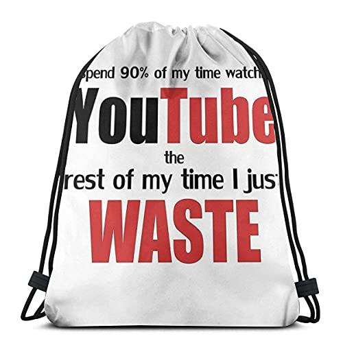 HY-MY Watching Youtube - Mochila deportiva con cordón