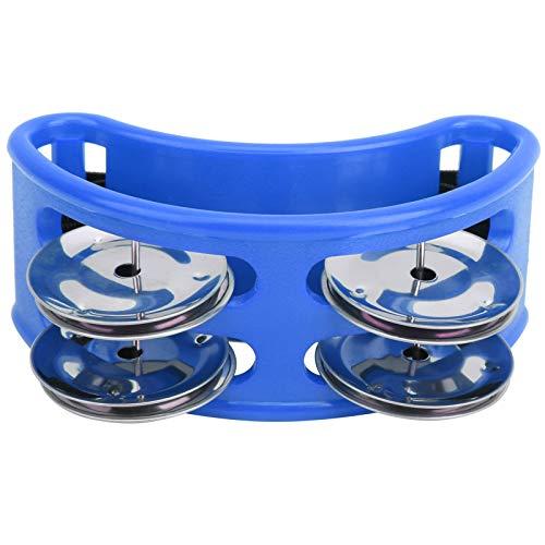Foot Jingle - Tambor elíptico de percusión de pandereta jingle pie campana cajon caja accesorios de tambor regalo azul