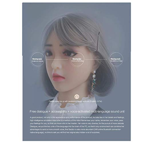 Full Smart AI Sex Doll Robot,Artificial Intelligent,Can Walk by Botton Wheel by Remote Control,Speak,Eyes,Lip,Mouth,Head,Arm,Hand Can Move (Designed by Your Picture)