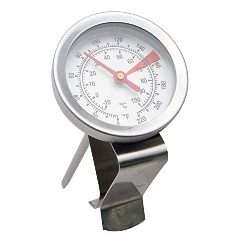 iCoffee Milk Frothing Thermometer with high Temperature Resistant Glass Cover with Triangle Clip & Protect Shade Coffee Milk Frothing Thermometer