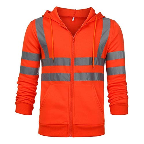 Chaleco de seguridad reflectante de alta visibilid Chaqueta bomber, chaqueta de rugby de 2 tonos, chaqueta de alta visibilidad, capas de seguridad de seguridad de cinta reflectante abrigos y chaquetas