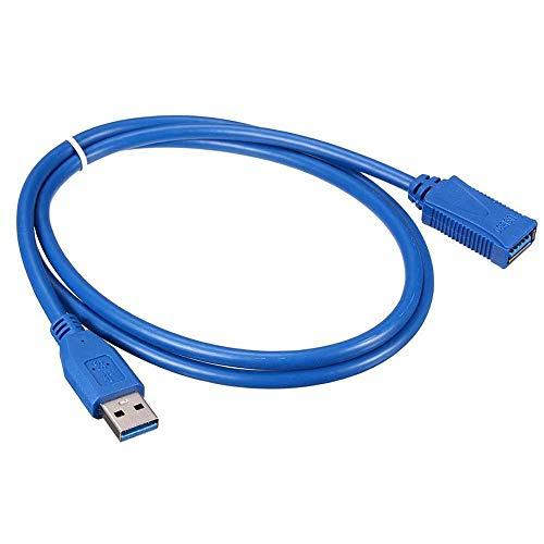 USB 3.0 Stecker auf Buchse Datenkabel Verlängerungskabel für Laptop PC Kamerakabel (3m schwarz)