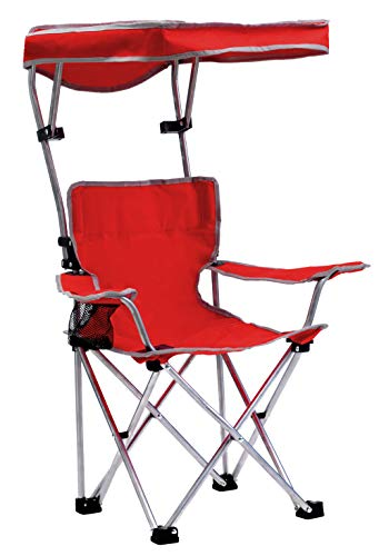 Quik Shade Folding Canopy Shade Kids with Carry Bag Camp Chair, Red (167611DS)