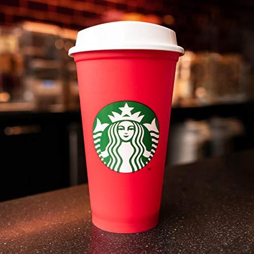 Starbucks Wiederverwendbare rote Tasse mit Deckel Holiday 2018