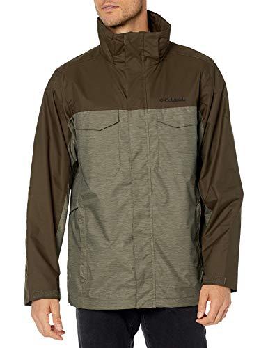 Columbia Men's Timberline Triple Interchange Jacket, Stone Green Jacquard Texture/Olive Grn, 5X Big