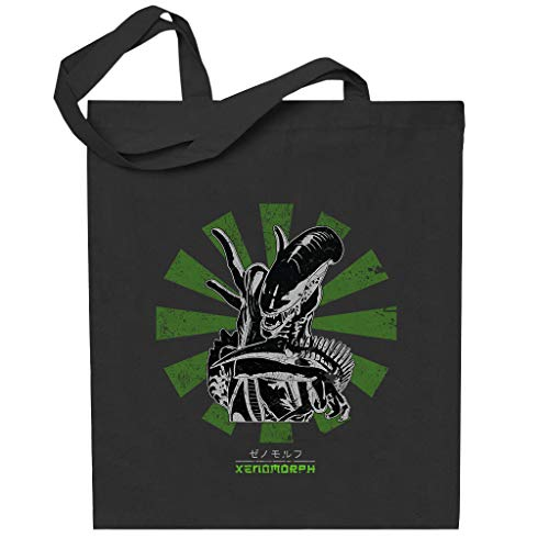Xenomorph Retro Japanese Alien Totebag