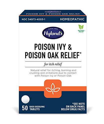 Hyland's Poison Ivy Poison Oak Relief Treatment Tablets, 50 Count