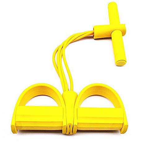 Unique\'store Cuerda de tensión multifunción,Cuerda para ejercitar piernas,ejercitador de Pedal de Fitness,Sit-up Culturismo expansor,Pedal Banda de Resistencia (Yellow)