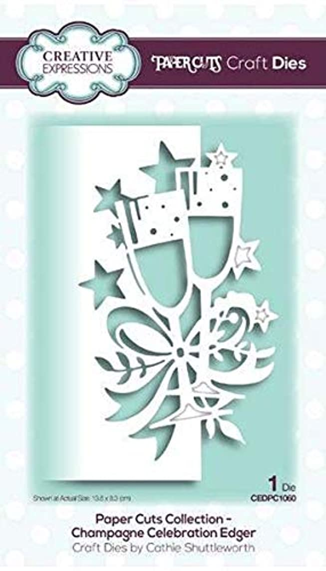 Creative Expressions Paper Cuts Champagne Edger Craft Dies