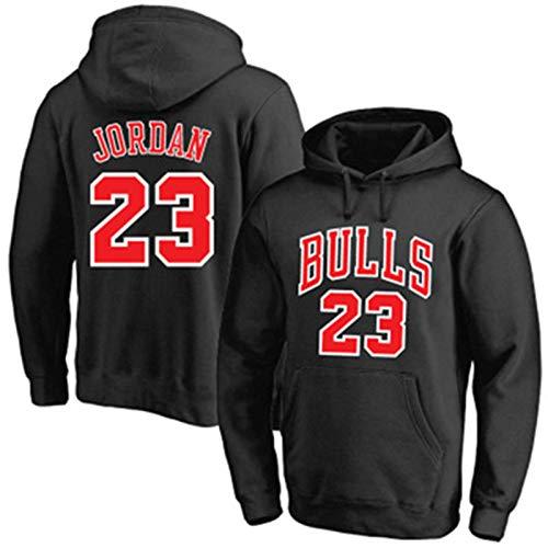 Negro - Michael Hoodie Manga Larga Bulls Suéter De Baloncesto Chicago Sudaderas #23 Repetible Limpieza Jordan Entrenamiento Camisa Para Hombres