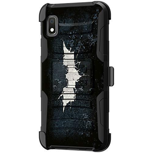 TurtleArmor Schutzhülle für Samsung Galaxy A10e (stoßfest), Hybrid-Schutzhülle mit Gürtelclip & Ständerfunktion, Fledermaussignal