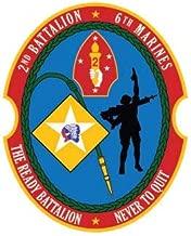 ION Graphics 2nd Battalion 6th Marine Regiment Sticker Die Cut Vinyl Marines Corp 5