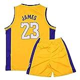 ACCZ # 23 James Lakers Kinder Basketball Trikot, Swingman Trikots, Jungen Mädchen Retro Ärmellose...