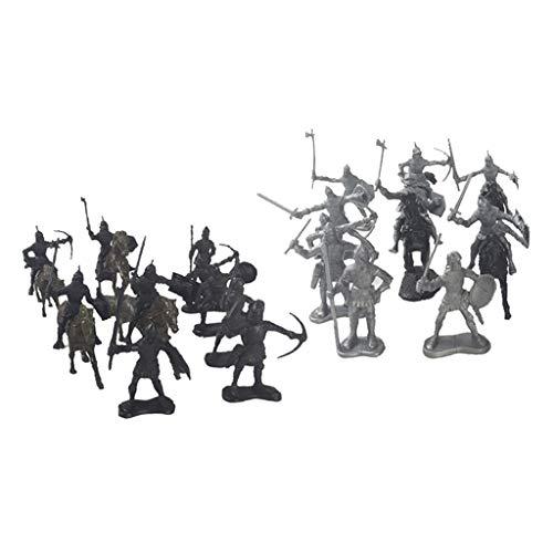 Nobranded Caballeros Medievales Caballos Modelo Estático Niños Niños Juguete