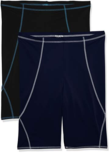 Amazon-Marke: find. Herren Bermudashorts, 2er-Pack, Mehrfarbig (Navy/Black), EU XL (US L - XL)