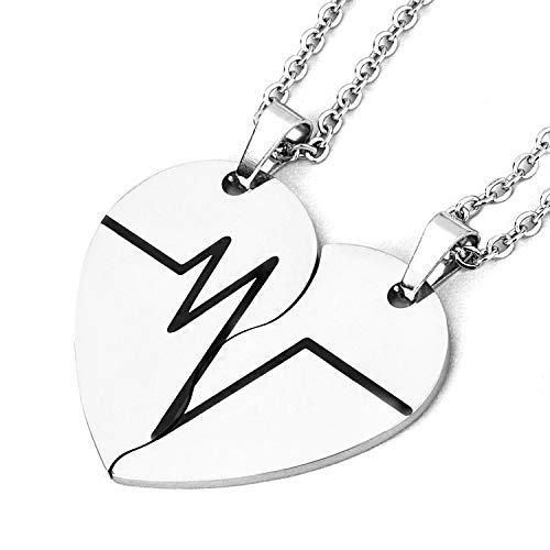 Starchenie BFF Acero Inoxidable Collares de Mejor Amigo para 2/3/4 Niñas Moda Diamantes de Imitación Cristal Rompecabezas Parejas amistad Colgante Collares