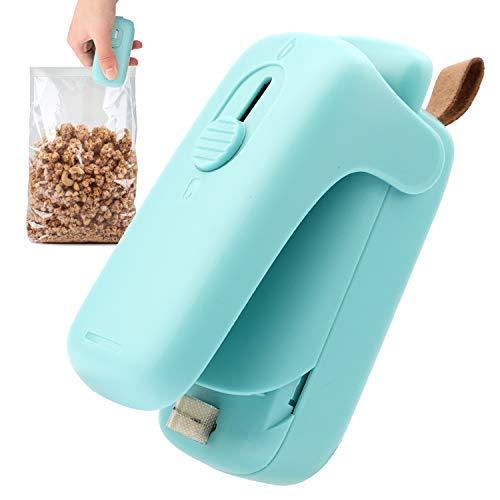 Folienschweißgerät, Mini Bag Sealer, 2 in 1 Tüten Schneiden und Verschließen, Mini Hand-Folienschweißgerät für Beutel Spänesäcke Plastiktüten Lebensmittel Lagerung