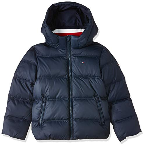 Tommy Hilfiger Jungen Essentials DOWN Jacket Jacke, Blau (Blue 002), 164 (Herstellergröße:14)