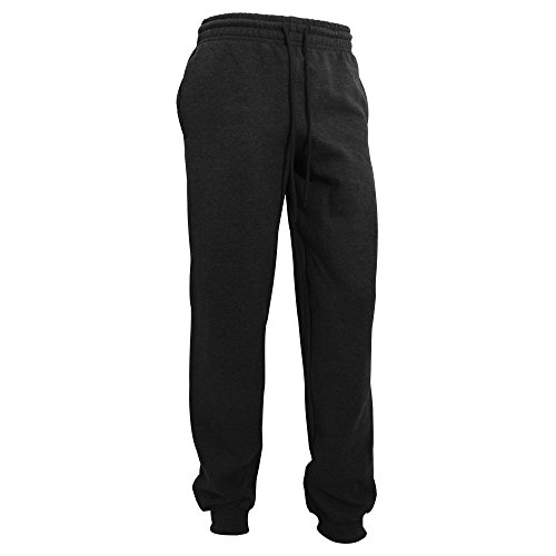 Gildan Herren Heavy Blend Jogging Hose/Sporthose mit Bündchen (L) (Schwarz)