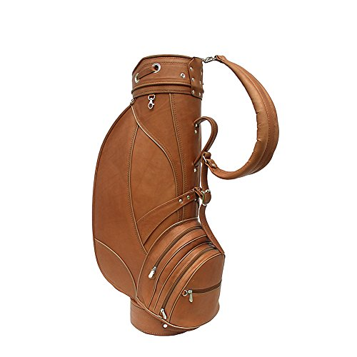 Piel Leather Deluxe 9in Golf Bag, Saddle, One Size