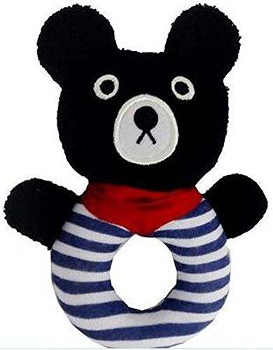 Beau bébé Jouets éducatifs Main d'animal Rattle Black Bear