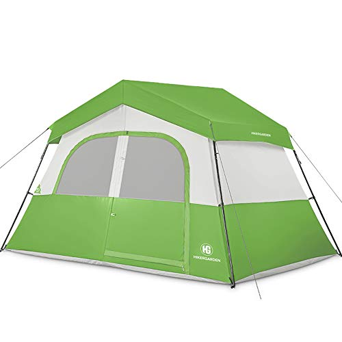 HIKERGARDEN Camping Tents - 6 Person Tent for Camping Waterproof, Windproof Fabric, Cabin Tent, Easy...
