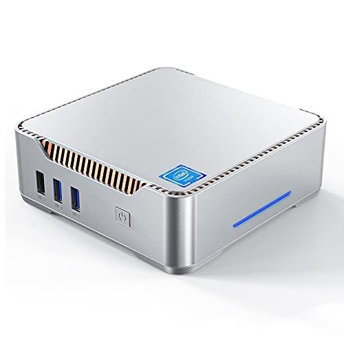 Mini PC,Intel Celeron N3350,Windows 10 Pro 8GB RAM+128GB ROM,Supporto 2.5'' SATA SSD/HDD,Dual WiFi 2.4/5G,Bluetooth 4.2,4K HD,USB 3.0,Triplo Display Mini Computer Desktop