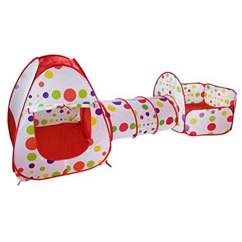 Knowoo Carpa de Juegos para niños Carpa de rastreo Casa de Juegos, túnel y Pozo de Bolas Juego de Interior al Aire Libre Casa de Juegos para niños Carpa para niños niñas bebés