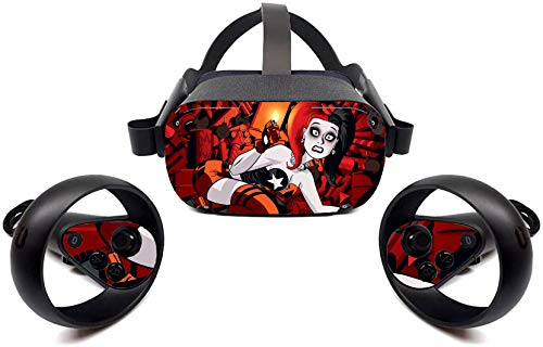 Cute Girl American Stickers Skin for Oculus Quest, Protective, Durable, and Unique Vinyl Decal Wrap Cover   Easy to Apply, Remove, and Change Styles by Tullia