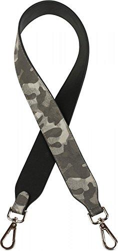styleBREAKER Schulterriemen für Taschen in Camouflage Optik, Wechsel Taschengurt mit Karabinerhaken für Umhängetaschen, Unisex 02013002, Farbe:Grau-Weiß