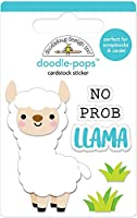Doodlebug DP6049 Doodle-Pops 3Dステッカー Prob-Llamaなし