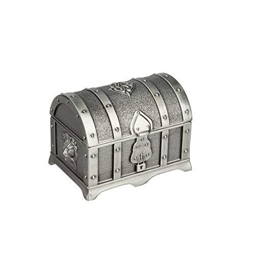Feyarl Caja rectangular de joyería retro caja de oro caja metálica acabado (por)