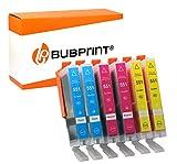 6 Bubprint Druckerpatronen kompatibel für Canon CLI-551 XL CLI-551XL für Pixma IP7200 IP7250 IX6850 IP8750 MG5450 MG5550 MG5650 MG6350 MG6450 MG6650 MG7150 MG7550 MX725 MX920 MX925 Multipack