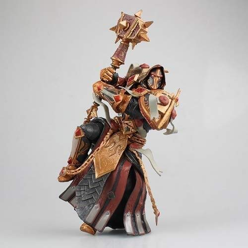 Xfwj WOW Paladin Rechter Rider Warranel Ancient King's Handmade Model Karakters van het Spel Hammer Battle Stance Static Character Desktop Model Materiaal PVC 18cm Chassis Decoration