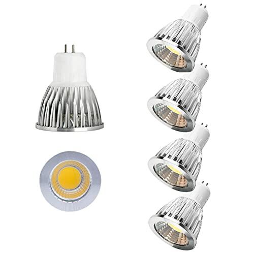 Confezione da 4 lampadine a LED con base Bin-pin Gu5.3, 12w 60° con angolo di fascio luminoso (equivalente a 100w alogena) 1080 lumen dimmerabili senza sfarfallio Lampadine per illuminazione paesaggi