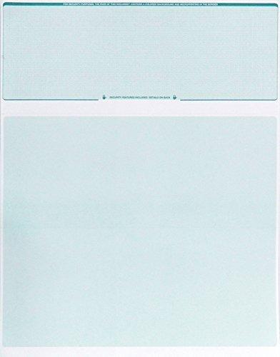 Blanko Computer Check paper-blank Check stock- prüfen, auf Top 100Zählen Green Diamond