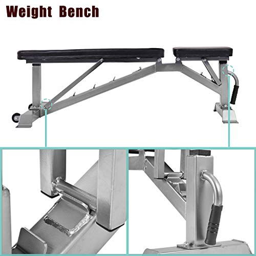 Merax Adjustable Weight Bench - 5 Position Incline Utility Bench Gym Bench for Full Body Workout Multi-Purpose Bench for Home Gym Strength Training [800 LBS Weight Capacity]
