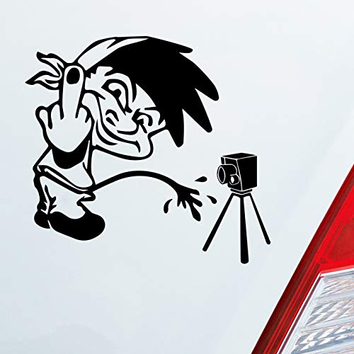 Auto Aufkleber in deiner Wunschfarbe Männeken Piss Blitzer Tuning Dub OEM Radar 10x10cm Autoaufkleber Sticker Folie