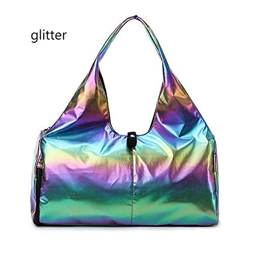 GGLLBL Frauen-Outdoor-Reisen Yoga-Matten-Bag Gym Männer Fitness Bag Training Nylon Outdoor Sport (Color : Glitter Rainbow)